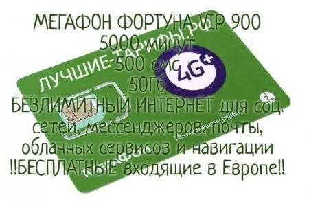 ТП ФОРТУНА 900 от Мегафон за 900 руб./мес.